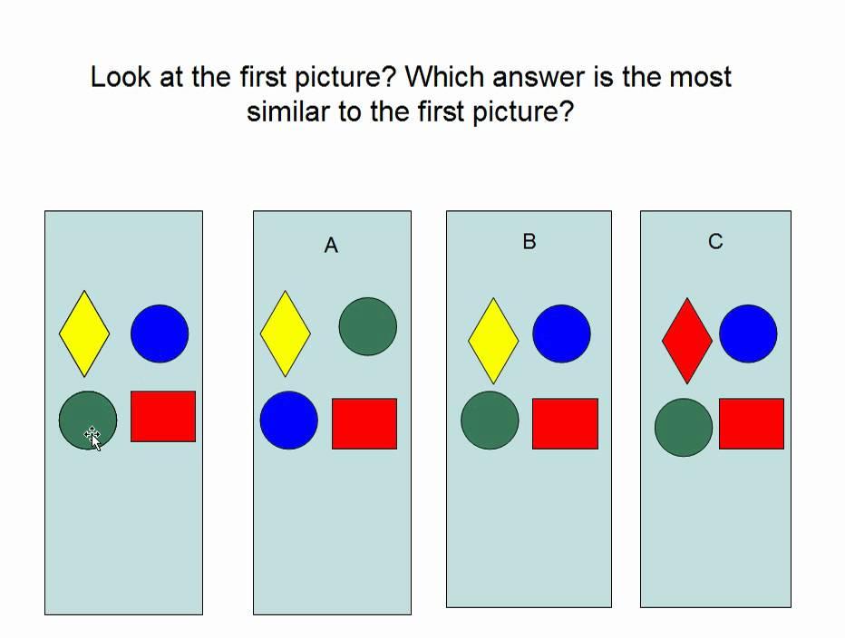 CogAT test samples for first grade entrance exam. - YouTube