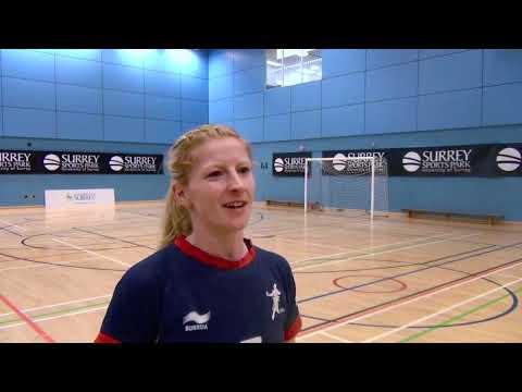 GB Handball Captain Lynn McCafferty speaks after skills swap with Harlequins RFU