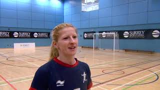 GB Handball Captain Lynn McCafferty speaks after skills swap with Harlequins RFU