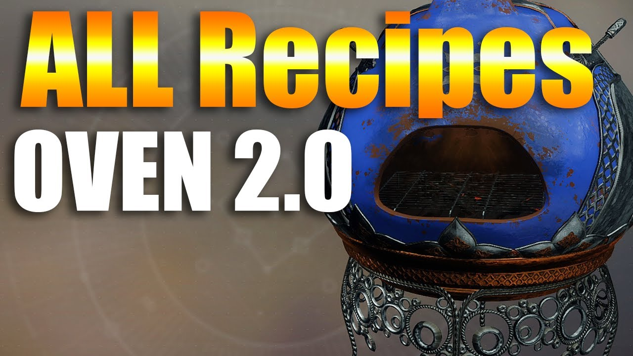 Destiny 2 ALL Recipes , Eva\u0027s Holiday Oven 2.0 Dawning Cookie Recipes