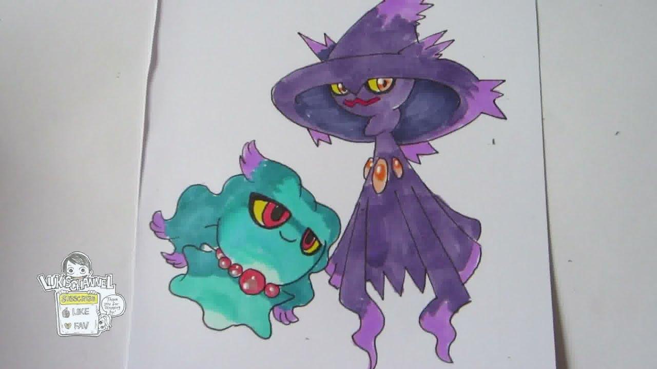 How To Draw Pokemon No200 Misdreavus No429 Mismagius Youtube