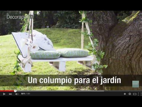 Un columpio rom ntico para el jard n manualidades youtube - Columpios para jardin ...