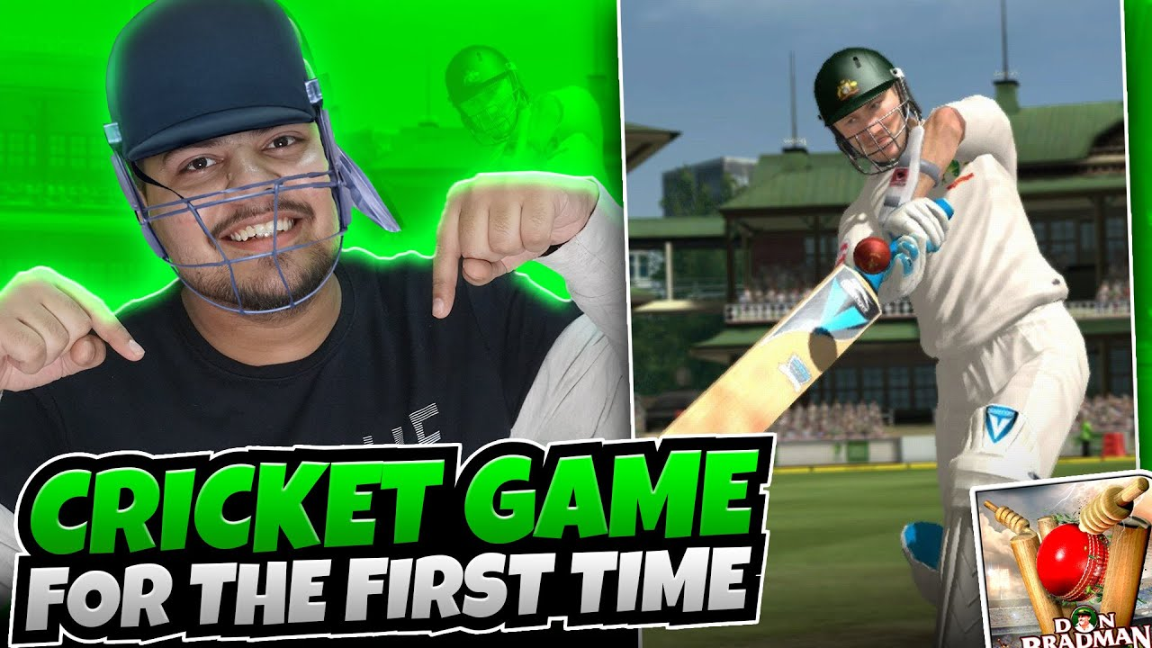Playing CRICKET GAME For First Time 😍 | Don Bradman Cricket 17