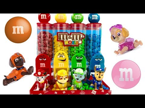 Thumbnail: Best Learning Colors Video for Children Paw Patrol Eat Count M&M's | Fizzy Fun Toys