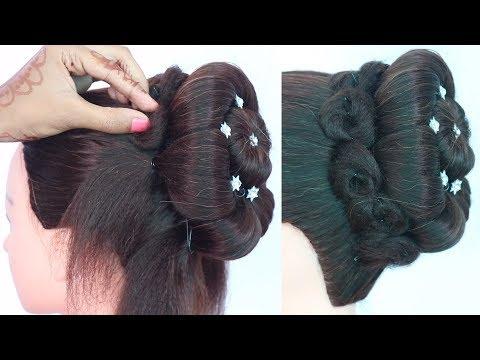 new latest trending juda hairstyle || new juda hairstyle for weddings,party || juda hairstyle thumbnail