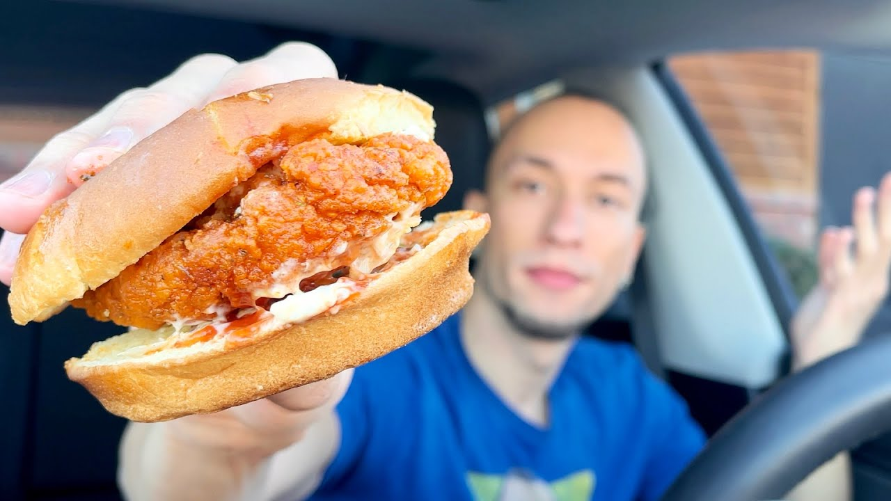 Mr. Beast Burger NEW Nashville Hot Chicken Sandwich Food ...