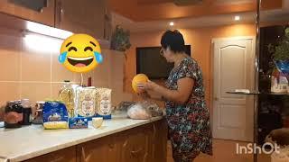 У Марины на кухне 😂 Она такая изумительная, фигуристая и талия есть #кухня#разговор#позитив