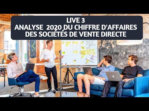 Live 3 - Analyse 2020 du CA des Sociétés de Vente Directe