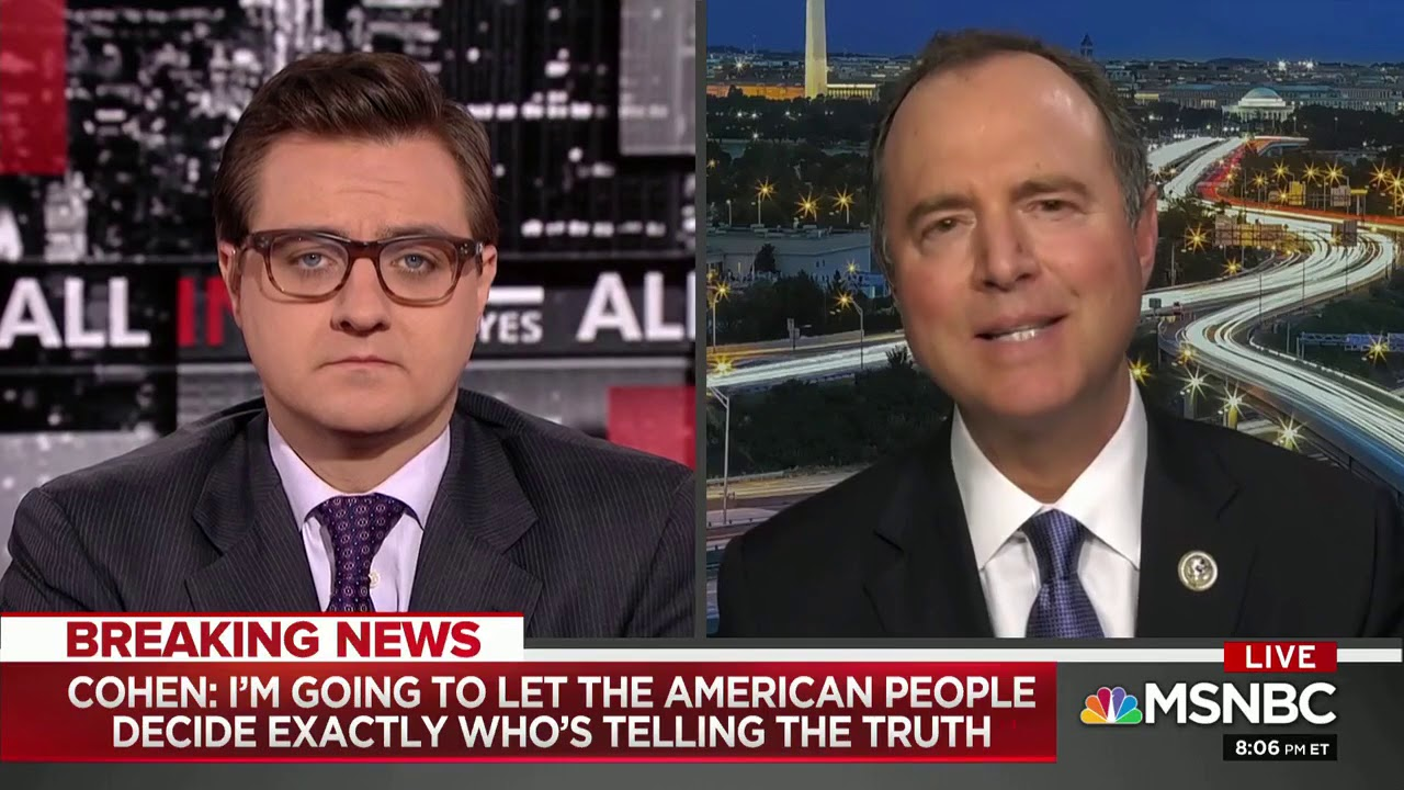 Rep. Schiff on MSNBC: We Have a Lot of Questions for Michael Cohen