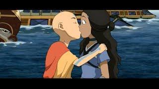 Aang & Katara Kiss: Full Scene [HD]