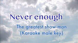 Never enough (the greatest show man) karaoke male version (c# maj)you are free to use this for your cover music but if used as background please site t...