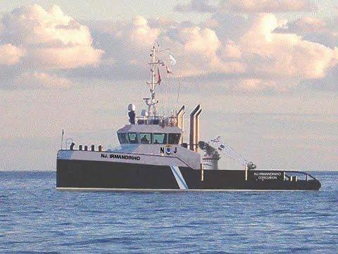 "Remolcador ""NJ IRMANDINHO"". Towing barge in Persian Gulf. NAVIEIRA JALISIA."