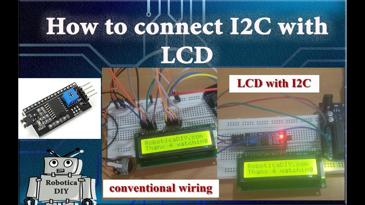 Arduino Tutorial #24 How to connect I2C with LCD