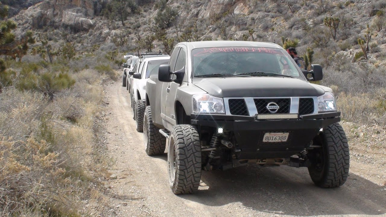 Vegas Nationwide Nissan Meet (day 1) Trail Ride - YouTube