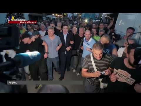 Saakashvili Storms Through Poland-Ukraine Border