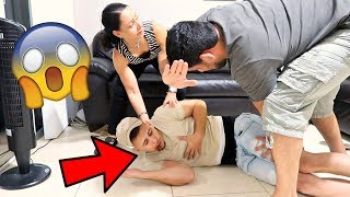 CHOKING PRANK ON BROTHER! (MUST WATCH)
