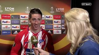 Fernando Torres talks about his next move after his final big game for Atletico Madrid