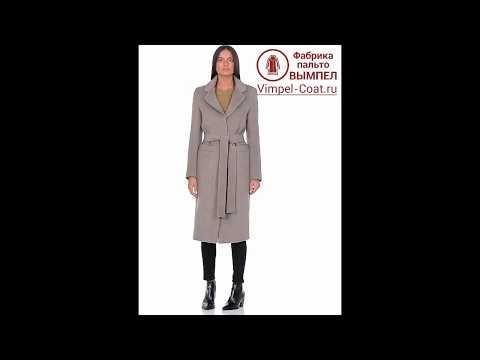 Женское демисезонное пальто HR-007 светло-оливкового цвета