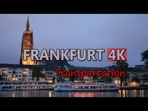 Ultra HD 4K Frankfurt Travel Vehicles Tourism City Transportation Tram Train UHD Video Stock Footage
