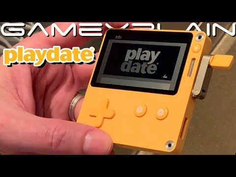 Checking Out Playdate: A Mini GameBoy-like Console...With A Crank! (PAX Overview)