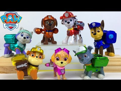STORY WITH PAW PATROL PUPS AT THE LOCAL POOL RUBBLE OVERCOMES HIS FEAR OF WATER POOL FUN SPLASH