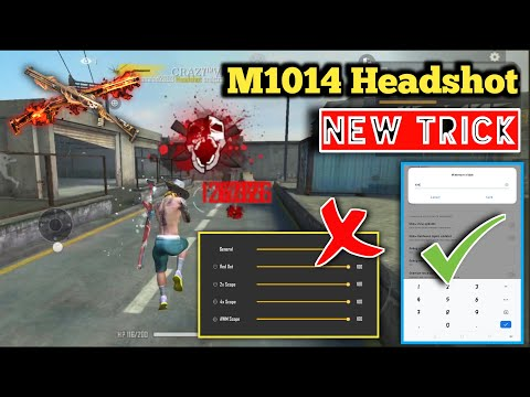 M1014 HEADSHOT New Trick Free Fire Full Tutorial [Hindi] || Free Fire M1014 HEADSHOT Latest Trick