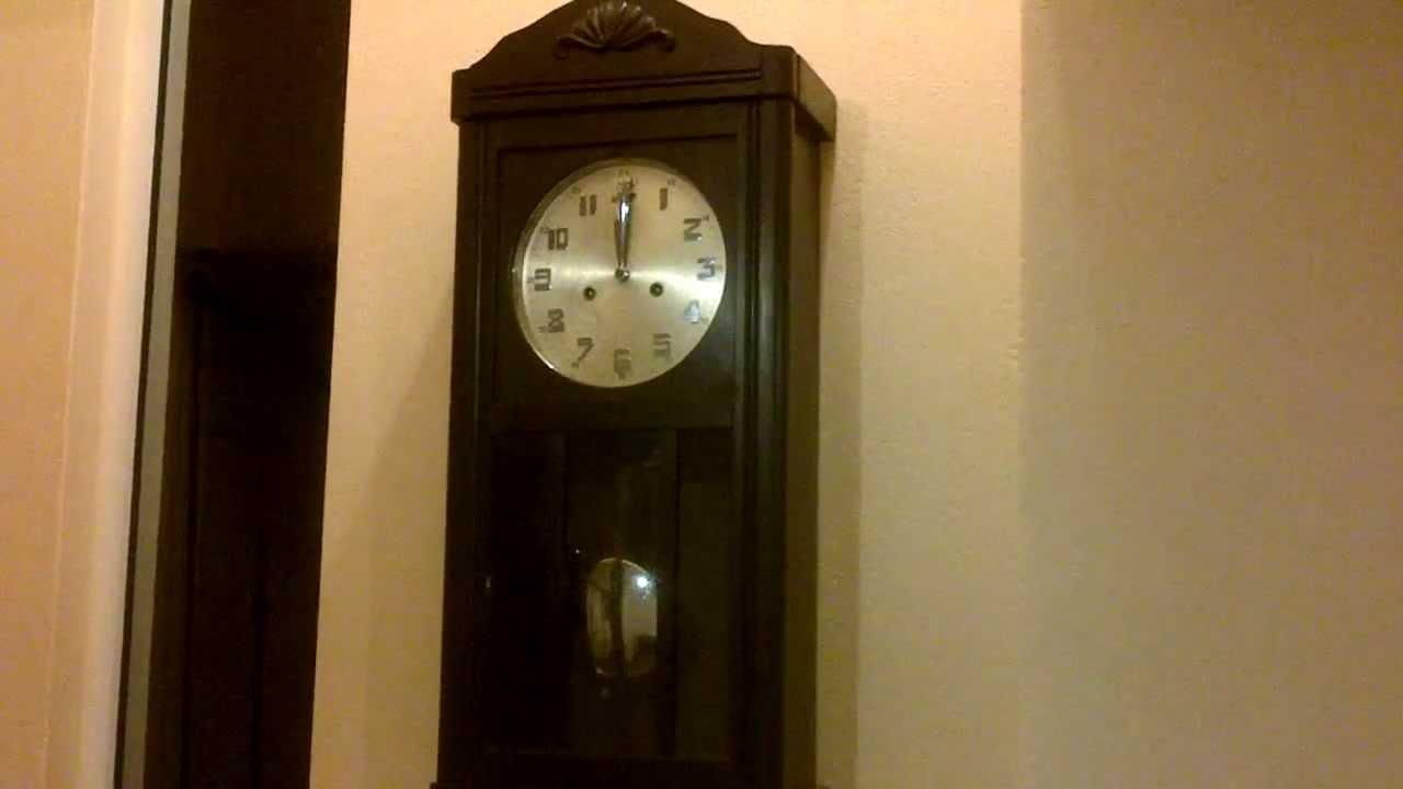 Reloj junghans doble cuerda media soneria youtube - Reloj adhesivo de pared ...