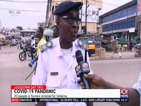 20 people in Kumasi arrested for loitering - Joy News Prime (31-3-20)
