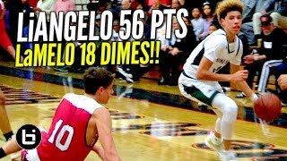 Repeat youtube video LiAngelo Ball Drops 56 Pts & LaMelo Dishes 18 Dimes! Chino Hills BLOWOUT Win Full Highlights!