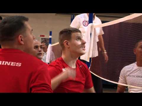 Marines Compete in Warrior Care Month Volleyball Tournament