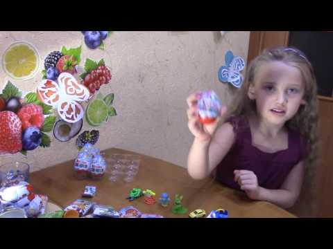 Kinder Surprise eggs Fixiki New 2016 Unboxing  Распаковка Киндер яйц Фиксики