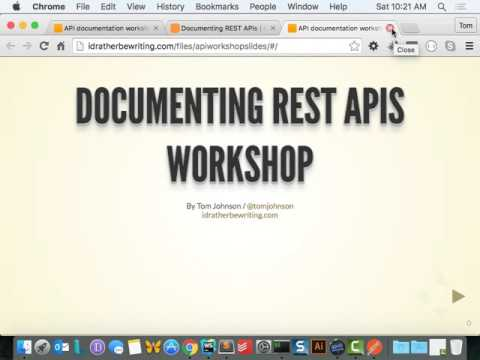 REST API webinar workshop -- STC Sacramento