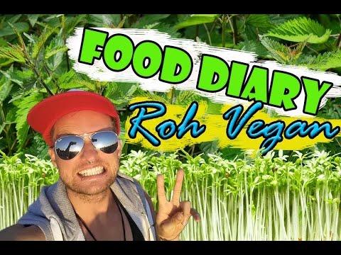 VLog #5 Roh Vegan Food Diary ,Wildkräuter im Frühjahr, Einnahmen Youtube