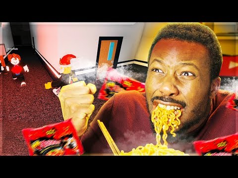I EAT 2X SPICY NOODLES, IF I GET CAUGHT! (Roblox Flee The Facility)