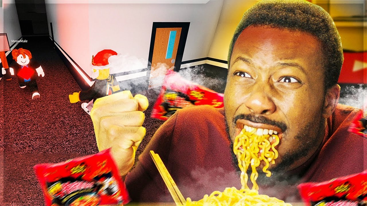 I Eat 2x Spicy Noodles If I Get Caught Roblox Flee The Facility