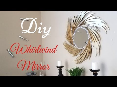 Diy Whirlwind Wall Mirror for Home/Wall Decorating Ideas with papers! thumbnail