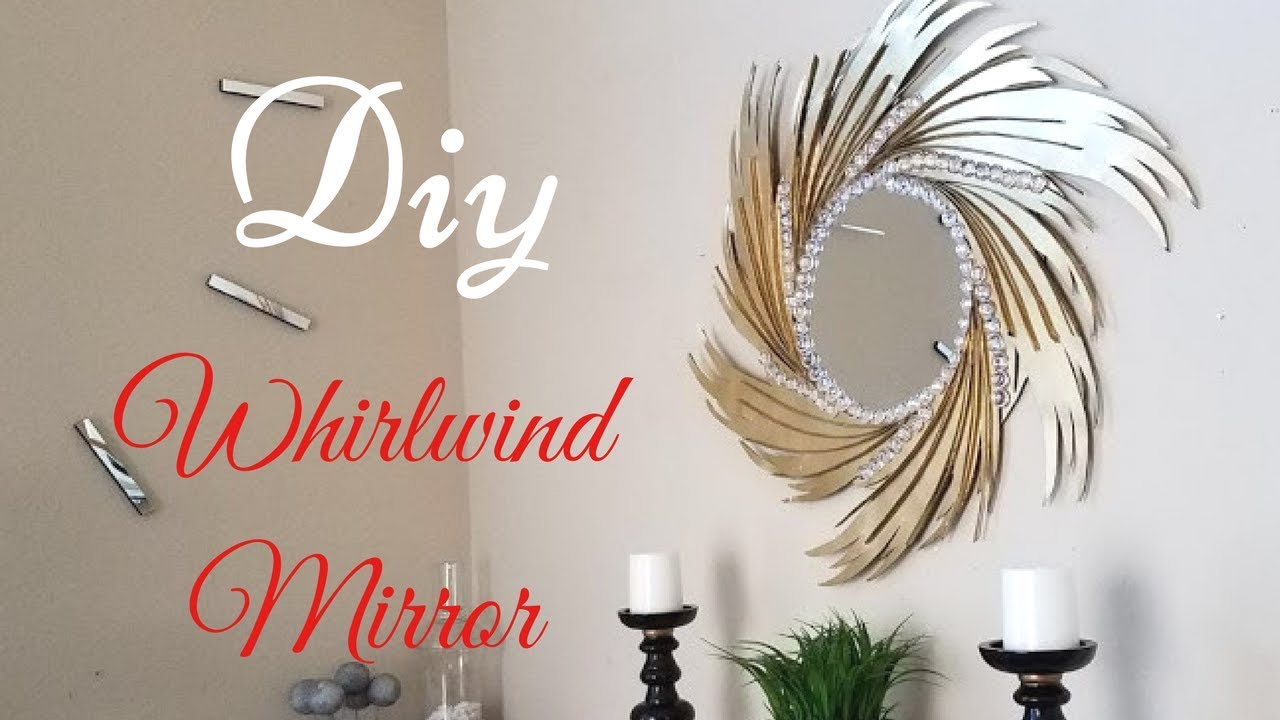 Diy Whirlwind Wall Mirror For Home Decorating Ideas With Papers