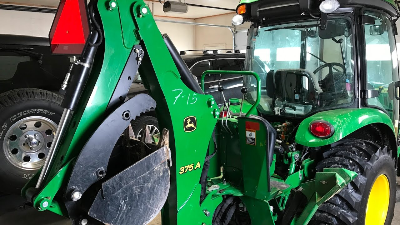 John Deere Backhoe Attachment >> John Deere 375a Backhoe Mounting Youtube