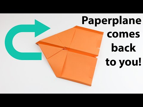 How To Make A Paperplane That Comes Back To You - Easy Paperplane