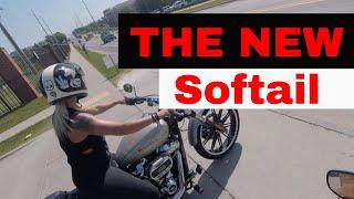 2018 H-D Fat Bob & Breakout Test Ride / New Softail frame