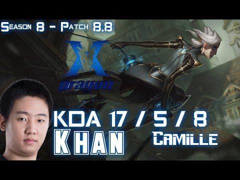 KZ Khan CAMILLE vs VLADIMIR Top - Patch 8.8 KR Ranked