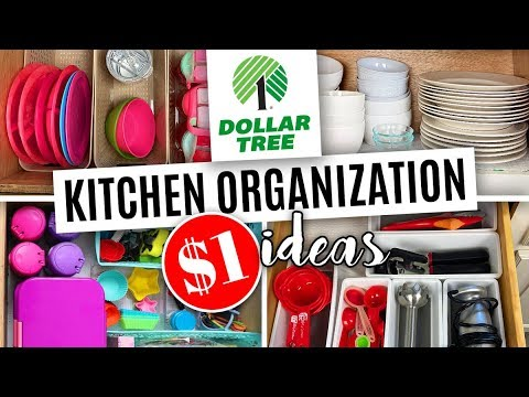 Dollar Tree Kitchen Organization 🔵 Organize Your Kitchen With $1 Items