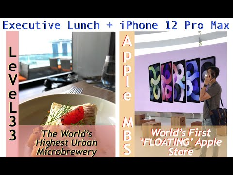 HOW WE CELEBRATE BIRTHDAY IN ABROAD-SINGAPORE   APPLE FLOATING STORE & EXECUTIVE LUNCH at LeVeL33