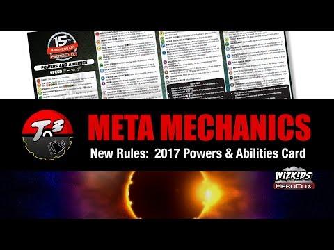 T3 - Meta Mechanics - New Rules: 2017 Powers & Abilities Card [HeroClix]