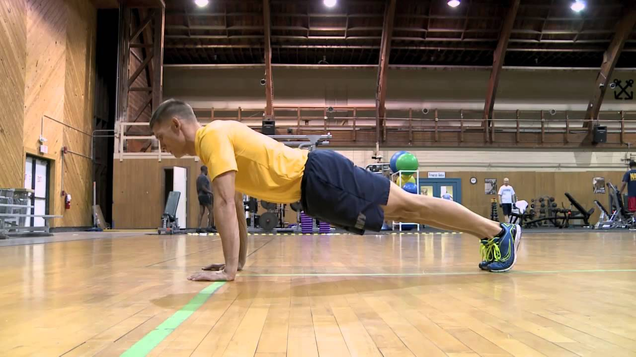 Official Navy PRT Push-up Demonstration - YouTube