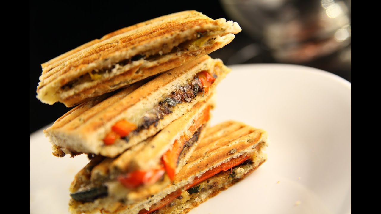 Grilled vegetable focaccia sandwich youtube grilled vegetable focaccia sandwich india food network forumfinder Choice Image