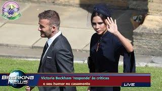 Victoria Beckham 'responde' às críticas   o seu humor no casamento