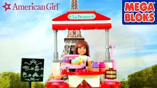 American Girl Mega Bloks Grace's Pastry Cart BUILD   Stop Motion Animation Short Film Like LEGOS