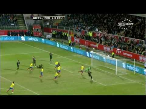 Portugal 2 vs Ecuador 3 - amistoso Internacional 06/02/2013 EURO SPORTS