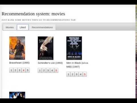 Recommendation system for movies using Tensorflow